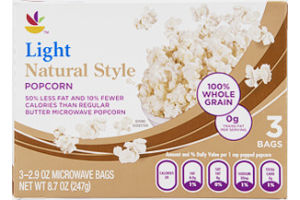 Ahold Popcorn Natural Style Light - 3 CT