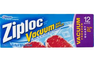 Ziploc Vacuum Quart Bag Refills - 12 CT