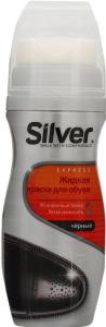 Краска для обуви жидкая черная Silver 75мл