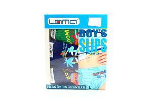 Труси Lama Boy's Slips для хлопчиків L 3шт