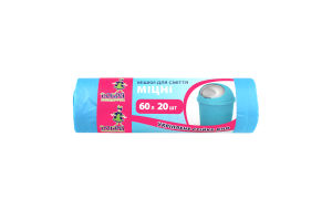 Пакети для сміття 60л сині міцні Добра Господарочка 20шт