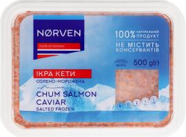 Ікра кети солоно-морожена Norven п/у 500г