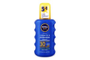 Спрей сонцезахисний SPF30 Захист та зволоження Sun Nivea 200мл