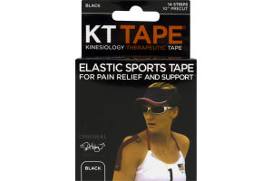 KT Tape Kinesiology Therapeutic Tape Original Black - 14 CT