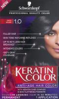 Schwarzkopf Keratin Color Permanent Anti-Age Hair Color 1.0 Onyx Black