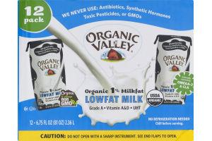 Organic Valley Lowfat Milk - 12 CT