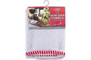 """Royal Crest Cotton Mini-Bar Towels 12""""x12"""" - 4 CT"""
