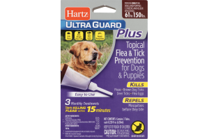 Hartz Ultra Guard Plus Topical Flea & Tick Prevention For Dogs and Puppies 61-150lbs - 3 CT
