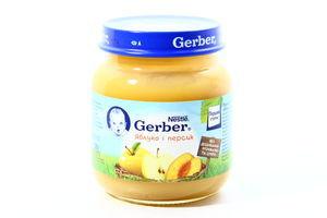 Пюре Gerber яблоко-персик 130г