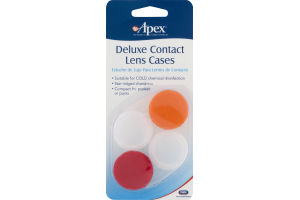 Apex Deluxe Contact Lens Cases - 2 PK