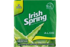 Irish Spring Deodorant Soap Aloe - 3 CT