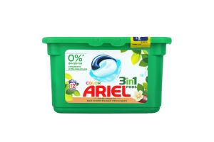 Средство моющее синтетическое жидкое в растворимых капсулах Аромат масла ши Color Pods 3in1 Ariel 12шт