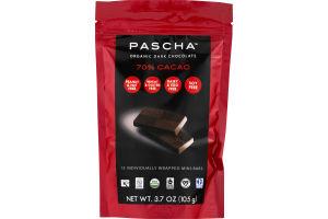 Pascha Organic Dark Chocolate 70% Cacao - 15 CT