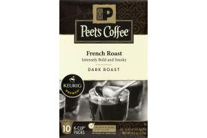 Peet's Coffee French Roast Dark Roast K-Cup Packs - 10 CT