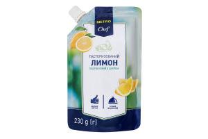 Лимон измельченный с сахаром пастеризованный Metro Chef д/п 230г