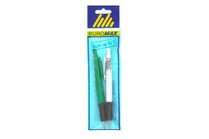 Комплект з 2-х кулькових автоматичних ручок Buromax 0,7 мм BM.8240-2