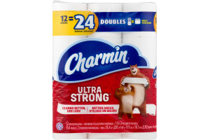 Charmin Ultra Strong Toilet Paper Double Rolls - 12 CT