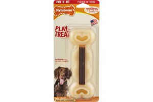 Nylabone Play 'N' Treat Refillable Dog Treat Toy Original Flavor