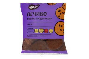 Печиво вівсяне з родзинками Повна Чаша м/у 300г