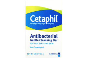 Cetaphil Dry Sensitive Skin Antibacterial Gentle Cleansing Bar