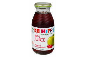 Сік для дітей від 4міс Яблуко-малина Hipp с/пл 0.2л