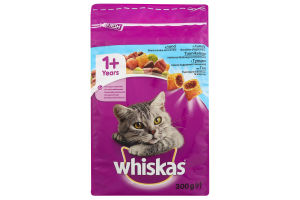 Корм для взрослых котов с тунцом Whiskas м/у 300г