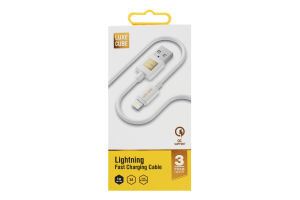 Кабель 1м білий Lightning to USB Luxe Cube 1шт