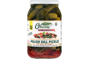 Othentic Polish Dill Pickles With Sweet Red Peppers