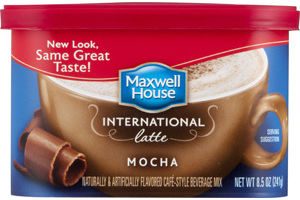 Maxwell House International Latte Beverage Mix Mocha