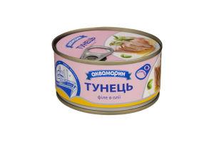 АКВА Тунець філе в/м ключ 185г/24шт.