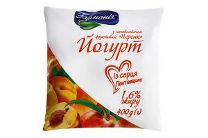 Йогурт 1.6% Персик Гармонія м/у 400г