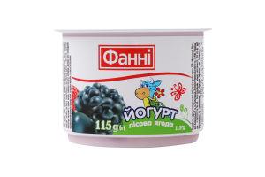Йогурт 1.5% Лісова ягода Фанні ст 115г