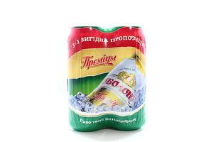 Пиво Оболонь Преміум з/б 4*0.5л х6