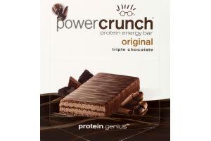 Power Crunch Protein Energy Bar Original Triple Chocolate - 12 CT