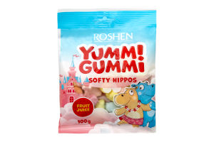 Конфеты желейные Softy hippos Yummi Gummi Roshen м/у 100г