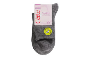 Шкарпетки жіночі Conte Comfort №14С-114CП 25 темно-сірий