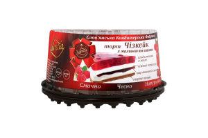 Торт Valencia Чизкейк малиново-вишневый