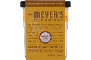 Mrs. Meyer's Clean Day Scented Soy Candle Orange Clove Scent