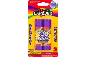 Cra-Z-Art Washable Glue Sticks Purple-Disappearing - 2 CT