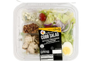 Ahold Cobb Salad with Chicken & Bacon and Blue Cheese Vinaigrette Dressing
