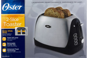 Oster 2-Slice Toaster Brushed Stainless Steel