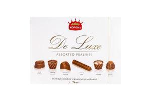 Конфеты в молочном шоколаде De Luxe Корона к/у 254г