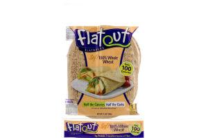 Flatout Flatbread 100% Whole Wheat - 6 CT