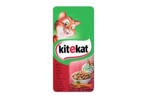Корм сухой для взрослых кошек с говядиной и овощами KiteKat м/у 12кг