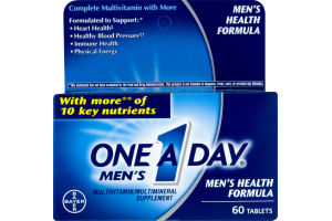 One A Day Men's Multivitamin Men's Health Formula Tablets - 60 CT