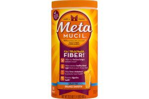 Metamucil 4 in 1 MultiHealth Fiber! Orange Smooth