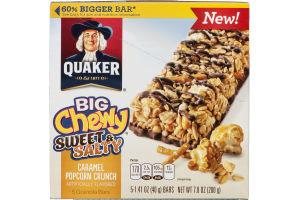 Quaker Granola Bars Big Chewy Sweet & Salty Caramel Popcorn Crunch - 5 CT