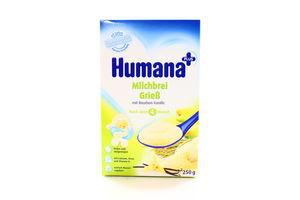 Каша Humana молочна кукурудзяно-рисова з ваніллю 250г х5