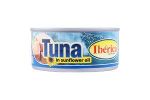 Тунець в соняшниковій олії Iberica з/б 160г