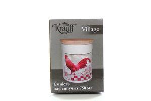 Ємність Krauff Village для сипучих з кришкою 750мл 15см